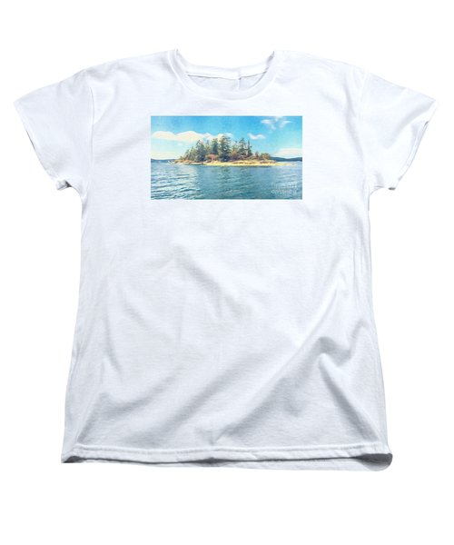 Women's T-Shirt (Standard Cut) featuring the photograph Island In The Sound by William Wyckoff
