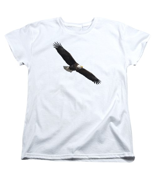 Isolated American Bald Eagle 2016-2 Women's T-Shirt (Standard Cut) by Thomas Young