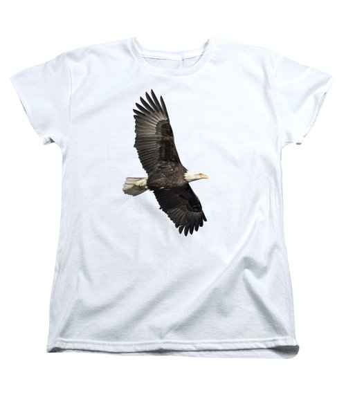Isolated American Bald Eagle 2016-4 Women's T-Shirt (Standard Cut) by Thomas Young