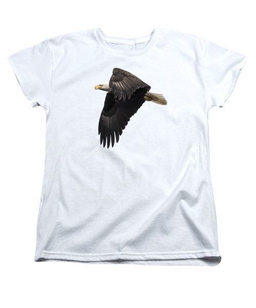 Isolated American Bald Eagle 2016-6 Women's T-Shirt (Standard Cut) by Thomas Young