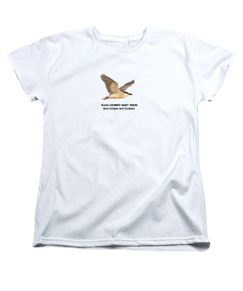 Isolated Black-crowned Night Heron 2017-6 Women's T-Shirt (Standard Cut) by Thomas Young