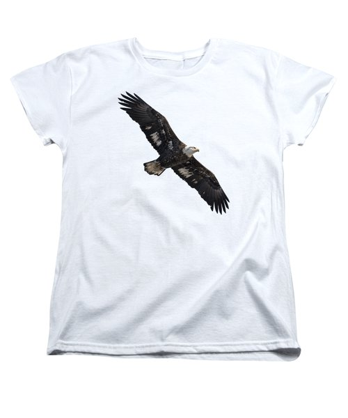 Isolated Juvenile American Bald Eagle 2016-1 Women's T-Shirt (Standard Cut) by Thomas Young