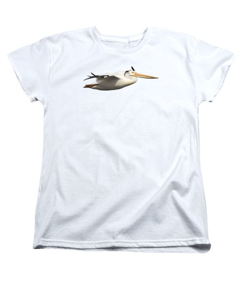 Isolated Pelican 2016-1 Women's T-Shirt (Standard Cut) by Thomas Young