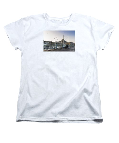 Women's T-Shirt (Standard Cut) featuring the photograph Istanbul From The Galata Bridge by Yuri Santin