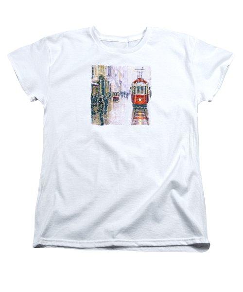 Istanbul Nostalgic Tramway Women's T-Shirt (Standard Cut)