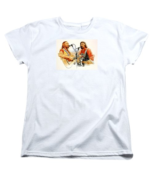 Its Country - 7  Waylon Jennings Willie Nelson Women's T-Shirt (Standard Cut) by Cliff Spohn