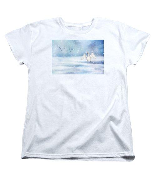 It's Snowing Women's T-Shirt (Standard Cut) by Annie Snel