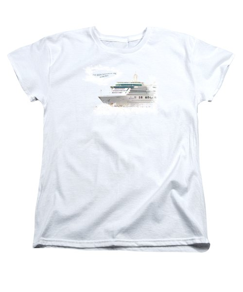 I've Been Nauticle On Aurora On Transparent Background Women's T-Shirt (Standard Cut) by Terri Waters