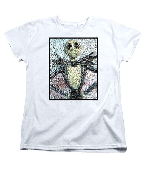 Jack Skellington Mosaic Women's T-Shirt (Standard Cut) by Paul Van Scott