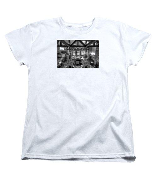 Jackson Lake Lodge Grand Tetons B W Women's T-Shirt (Standard Fit)