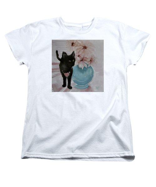 Jacobs's Cat Women's T-Shirt (Standard Cut) by Julie Todd-Cundiff