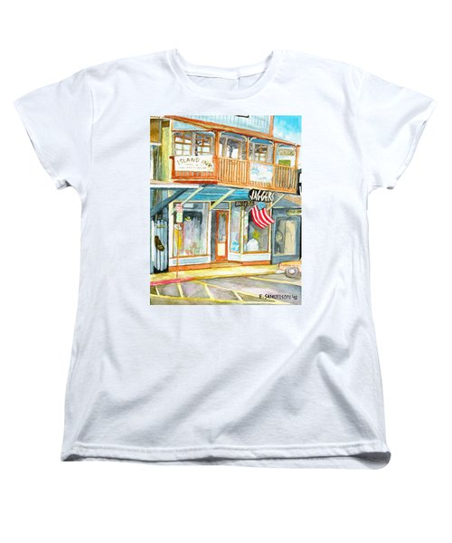 Women's T-Shirt (Standard Cut) featuring the painting Jaggers by Eric Samuelson
