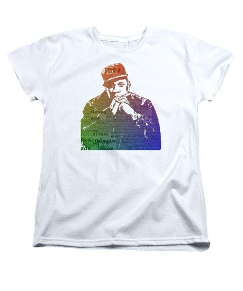 Jay Z Typography Women's T-Shirt (Standard Cut) by Dan Sproul