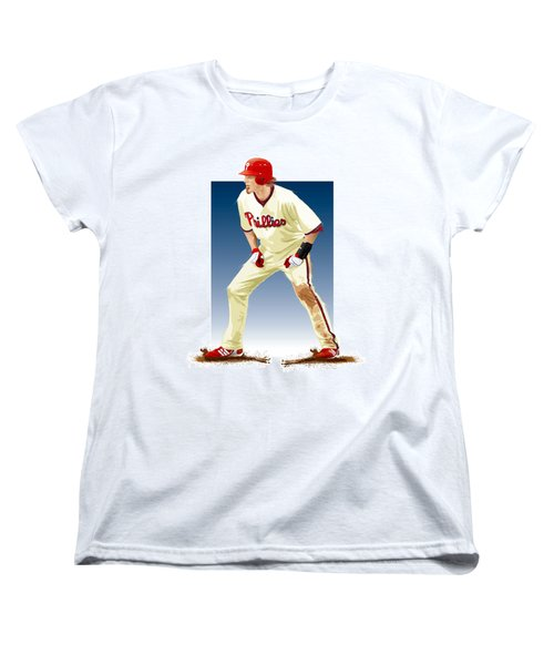 Jayson Werth Women's T-Shirt (Standard Cut) by Scott Weigner