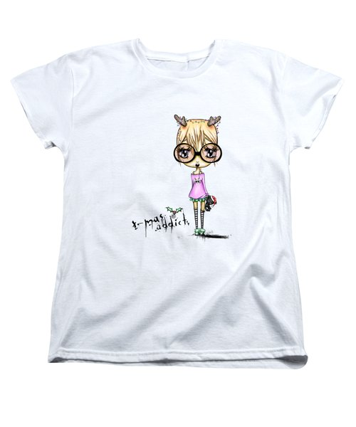 Jaz So Ready For Christmas Women's T-Shirt (Standard Cut) by Lizzy Love