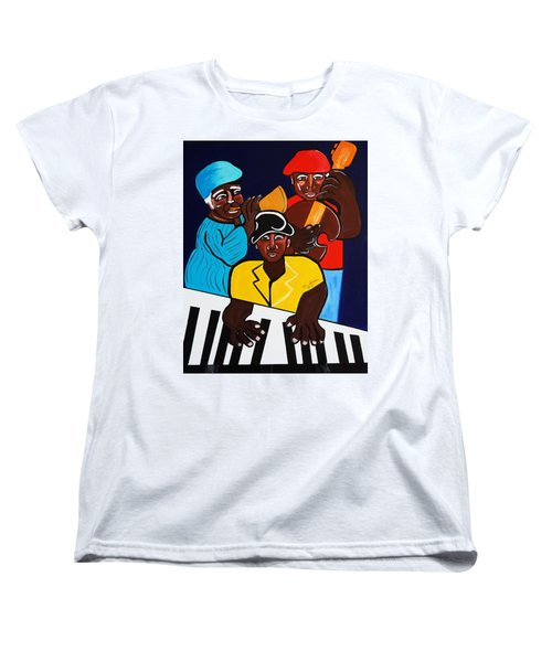Jazz Sunshine Band Women's T-Shirt (Standard Cut) by Nora Shepley