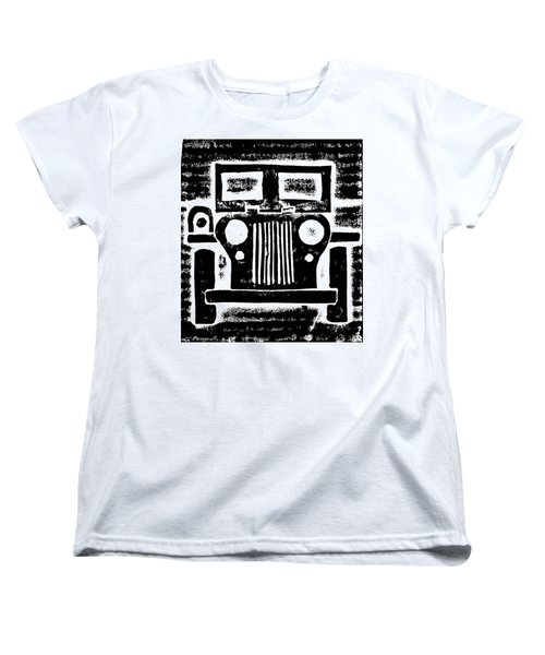 Women's T-Shirt (Standard Cut) featuring the mixed media Jeep by Jame Hayes