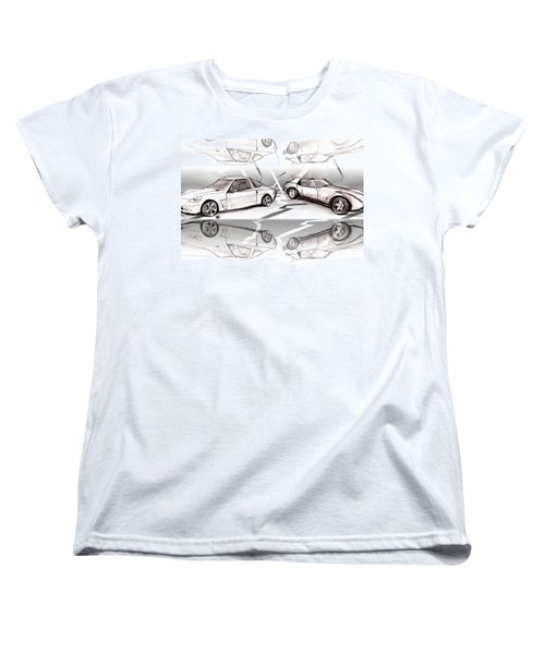 Jet Mikes Cars Women's T-Shirt (Standard Cut) by John Jr Gholson