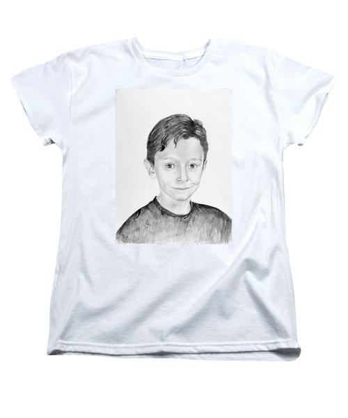 Women's T-Shirt (Standard Cut) featuring the drawing Jimmy by Mayhem Mediums