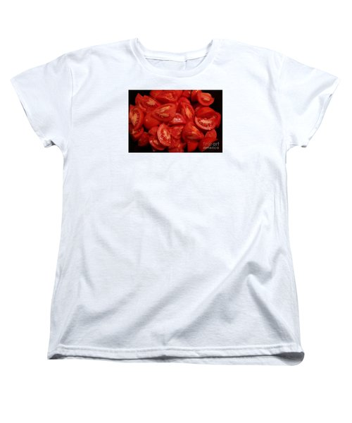 Women's T-Shirt (Standard Cut) featuring the photograph Juicy Tomatoes by Jeanette French