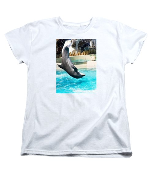 Jumping Dolphin Women's T-Shirt (Standard Cut) by Bob Pardue