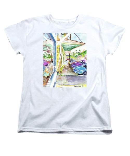 Women's T-Shirt (Standard Cut) featuring the painting Just You And Me by Eric Samuelson