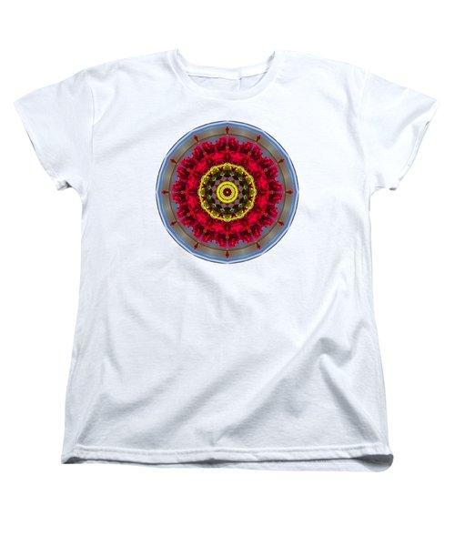 Women's T-Shirt (Standard Cut) featuring the photograph Kaleidos - Nantucket Rose01 by Jack Torcello