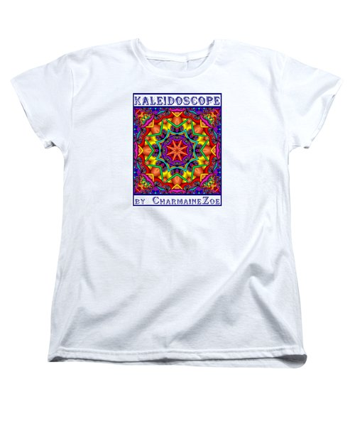 Women's T-Shirt (Standard Cut) featuring the digital art Kaleidoscope 2 by Charmaine Zoe