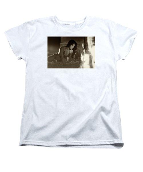 Kamasutra Girl 3 Women's T-Shirt (Standard Cut) by Kiran Joshi