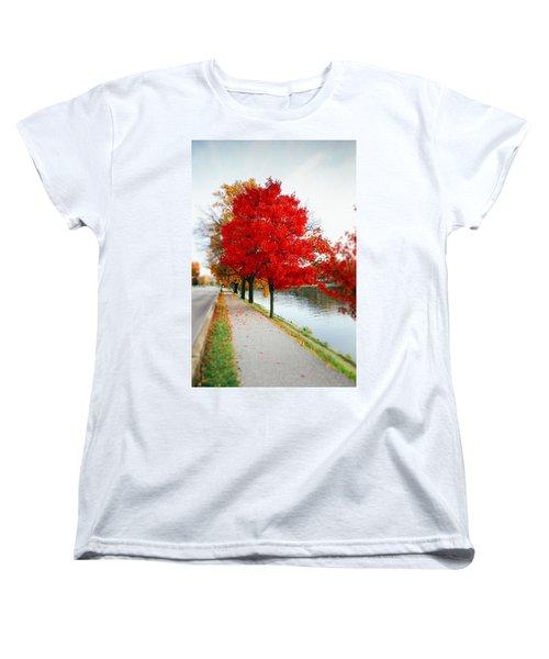 Kanawha Boulevard In Autumn Women's T-Shirt (Standard Cut) by Shane Holsclaw