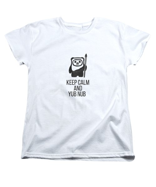Women's T-Shirt (Standard Cut) featuring the drawing Keep Calm And Yub Nub by Edward Fielding