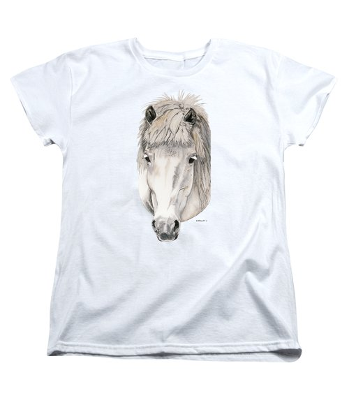 Women's T-Shirt (Standard Cut) featuring the painting Kind Eyes by Shari Nees