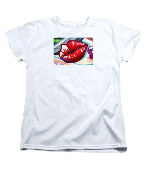 Kiss Me Now ... Women's T-Shirt (Standard Cut) by Juergen Weiss