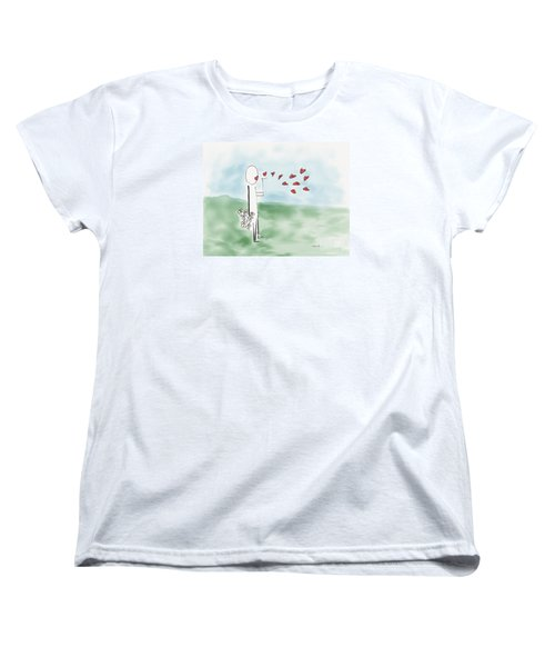 Kisses And Love   Women's T-Shirt (Standard Cut) by Haleh Mahbod