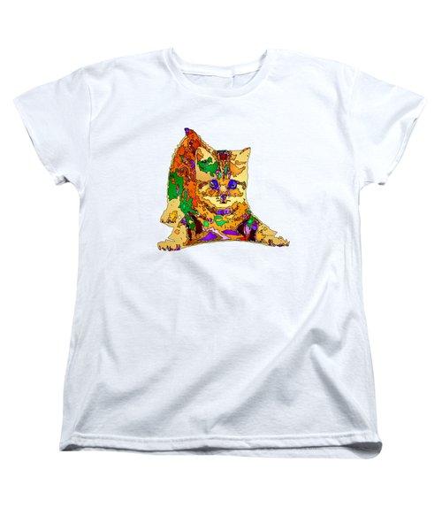 Kitty Love. Pet Series Women's T-Shirt (Standard Cut) by Rafael Salazar
