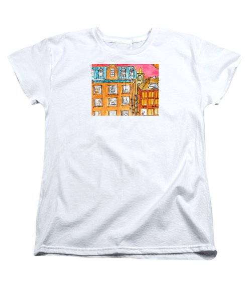 Kittyscape Hotel Women's T-Shirt (Standard Cut) by Lou Belcher