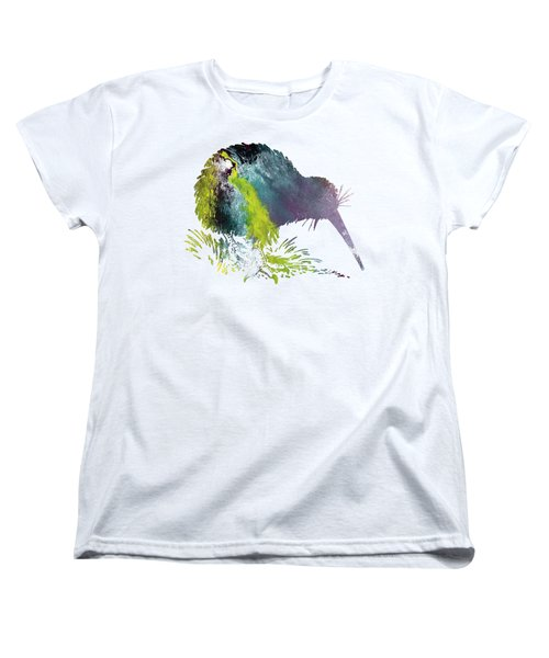 Kiwi Bird Women's T-Shirt (Standard Cut) by Mordax Furittus