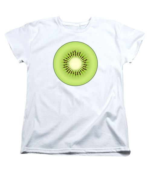 Kiwi Fruit Women's T-Shirt (Standard Cut) by Miroslav Nemecek