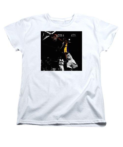 Kobe Bryant On Top Of Dwight Howard Women's T-Shirt (Standard Cut) by Brian Reaves