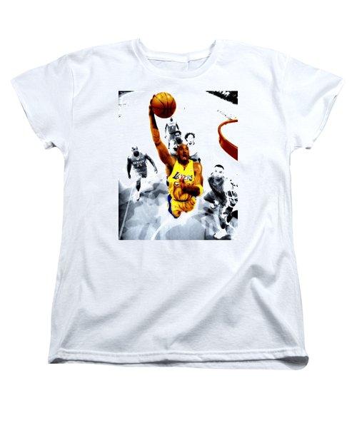Kobe Bryant Took Flight Women's T-Shirt (Standard Cut) by Brian Reaves