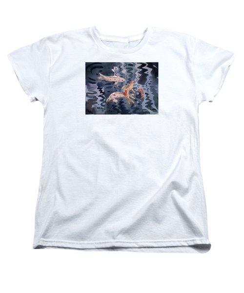 Koi Pond Women's T-Shirt (Standard Cut) by Donald Maier