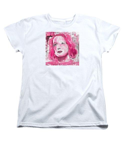 Women's T-Shirt (Standard Cut) featuring the digital art La Vie En Rose by Sladjana Lazarevic