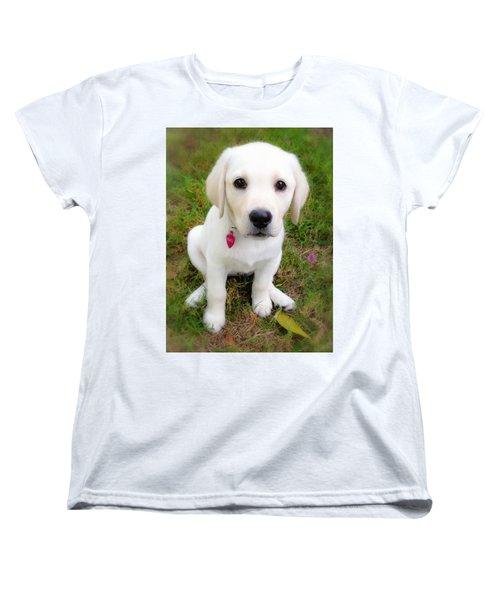 Lab Puppy Women's T-Shirt (Standard Cut) by Stephen Anderson