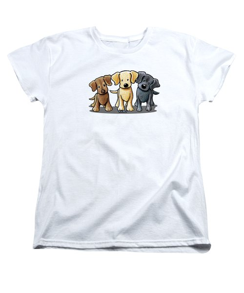 Labrador Beach Trio Women's T-Shirt (Standard Cut)