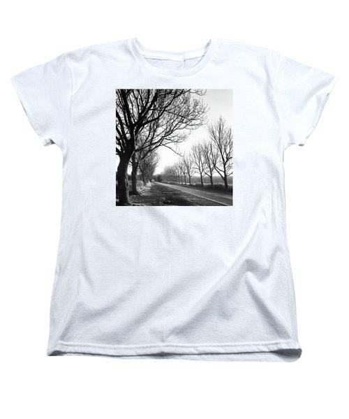 Lady Anne's Drive, Holkham Women's T-Shirt (Standard Cut) by John Edwards