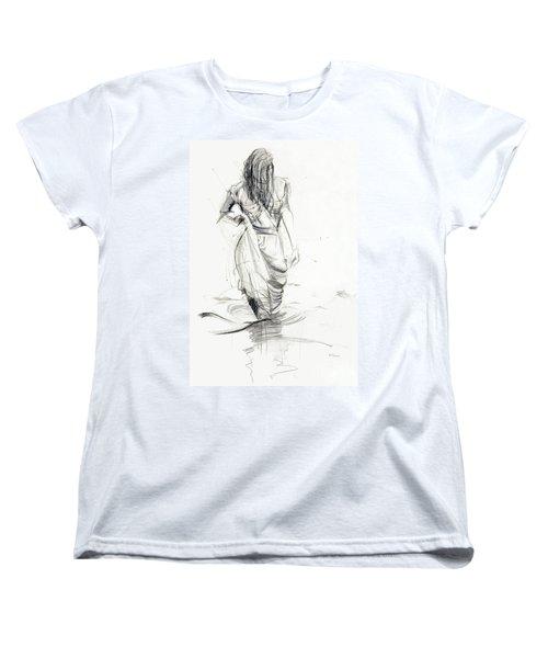 Lady In The Waters Women's T-Shirt (Standard Cut) by Kerryn Madsen-Pietsch