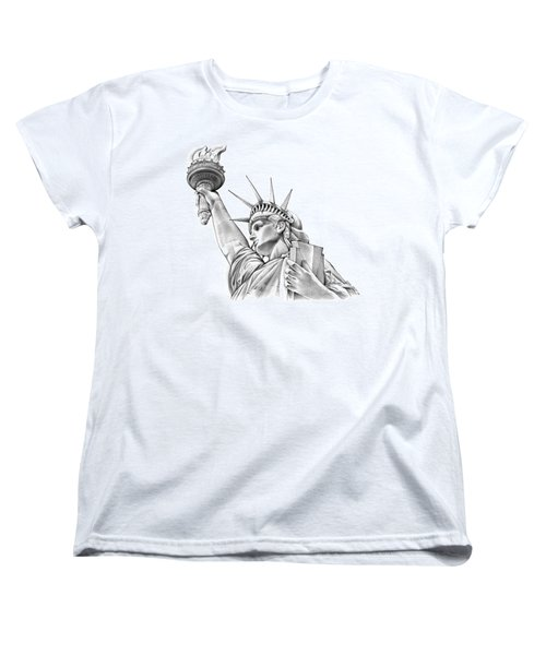 Lady Liberty Women's T-Shirt (Standard Cut) by Greg Joens