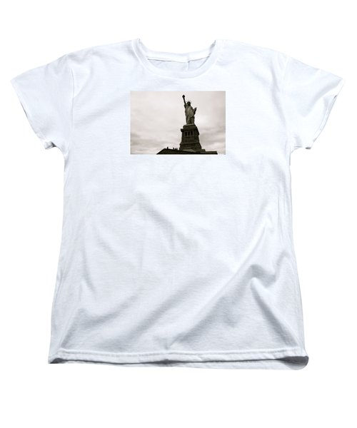 Lady Liberty Women's T-Shirt (Standard Cut) by Mark Nowoslawski