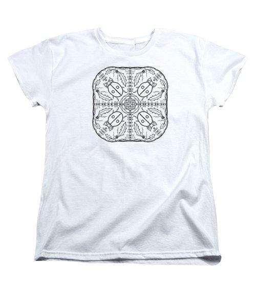 Ladybug Mandala Women's T-Shirt (Standard Cut) by Tanya Provines
