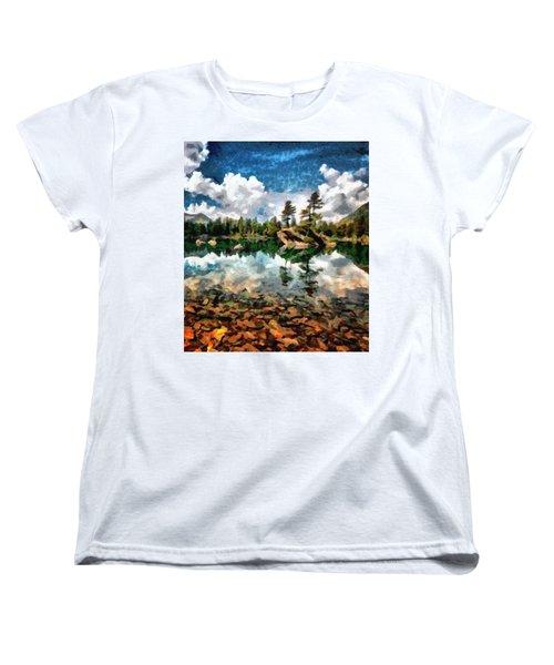 Lake Island View Women's T-Shirt (Standard Cut) by Mario Carini